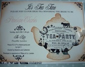 Bridal Shower Tea Party Invitation, High Tea Wedding Invite, Baby Shower Tea Party, Vintage Inspired Set of 10
