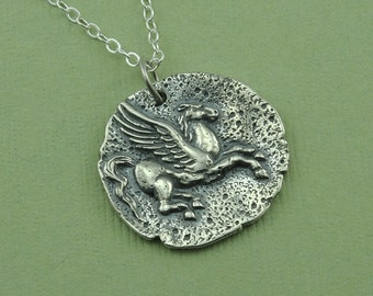 Pegasus Necklace - Sterling Silver Horse Pendant Jewelry, Greek Mythology Jewelry, Trendy Necklaces, Birthday Gift