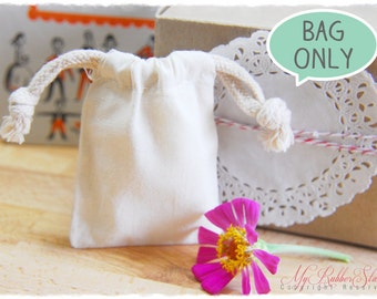 """50 Premium Muslin Bags 3""""x4"""" (High quality with double drawstring 3x4)"""
