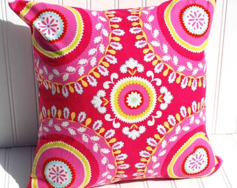 Throw Pillow Cover In Kumari Garden Fabric