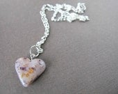 Flower Petal Heart Pendant/ Bridal and Memorial Keepsake/ Made With Your Flowers