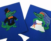 Florida Gators Wedding Coozies  Albert & Alberta Get Married (Pair) with Second Side