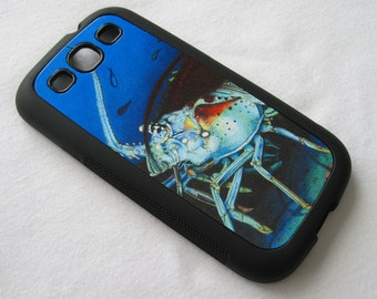 Spiny florida Lobster Samsung Galaxy 3 rubber case diving smartphone android