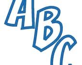 Embroidery Machine Applique Alphabet Fonts 4174 INSTANT DOWNLOAD