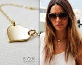 Heart Gold Necklace - Celebrity Style - 14K Goldfilled
