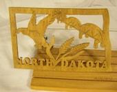 US State of NORTH DAKOTA  Scroll Saw Plaque