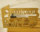 US STATE of PENNSYLVANIA  Scroll Saw Plaque