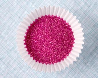 Fuchsia Sanding Sugar, Fuchsia Sugar Sprinkles, Pink Sanding Sugar (4 ounces)