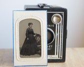 Tintype: Portrait of Woman In Victorian Dress, Full Portrait, Portrait of Lady