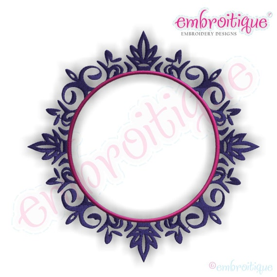 Chadwick embroidery monogram font frame instant email