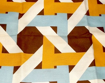 Geometric Basket Weave home decor Fabric • over 2 yards X 45 inches