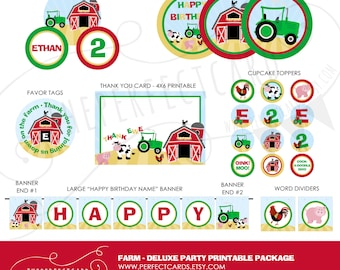 FARM Deluxe Printable Party Package