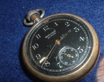 Vintage Defiance Pocket Watch ticking