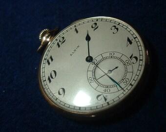 Elgin G.M. Wheeler Model Presentation Pocket Watch In 14K GF Case