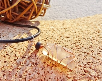 FINAL SALE CLOSEOUT Wire Wrapped Copper Delight-Beach Candies Necklace by Jessentials