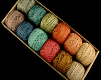 Valdani Perle Cotton Size 12 Embroidery Thread Bigsby Designs Light Sampler Set