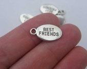 8 Best Friends charms tibetan silver M200