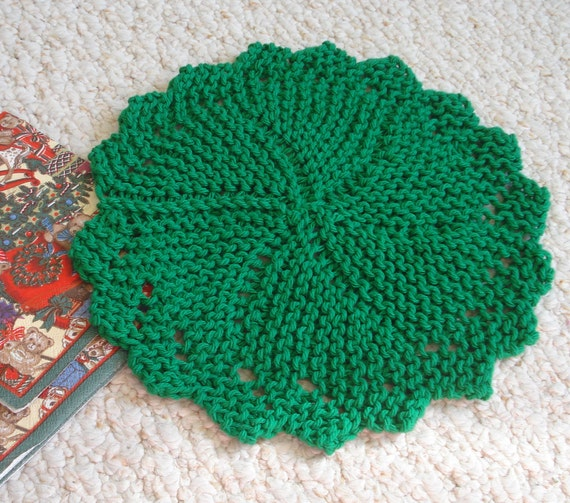 PDF Dishcloth Pattern for Hand Knit Heirloom Round Dishcloth