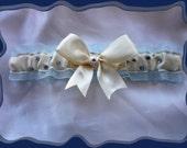 Cream Satin Ribbon with Rhinestones Toss ~~~SALE~~~