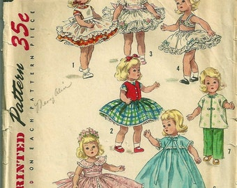 Ginny Muffie Alexanderkins Kish Riley doll or similar size 8 inch SEWING pattern download