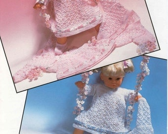 BABY KNITTING PATTERN for doll or baby Preemie sizes   - Dress, Cardigan, Shoes, Skirt Sweater