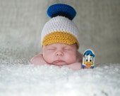 Baby boy hat, baby girl hat, duck hat, photo prop, donald duck hat, crochet duck hat, baby shower gift, disney donald duck hat, baby child