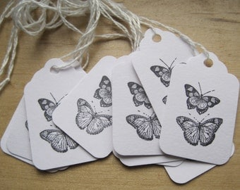 petite french market butterflies les papillons tags set of 10