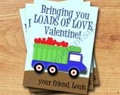 Classroom Valentines - Mini Valentines - Truck Full Of Love Printable Valentine