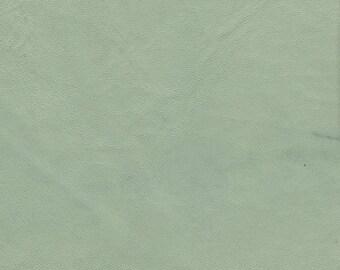 "5283  Genuine Lambskin Leather Fabric/Med. Wt./ New Vintage  Hide/Pale Pastel Aqua/ NOTE Below Regarding Lambskin17.5""x7.25""/WoolenCrow 8.95"