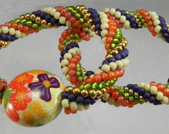 Bead Crochet Kit - 2 Bead Crochet Bracelets Complete Kit including pattern for the beginner