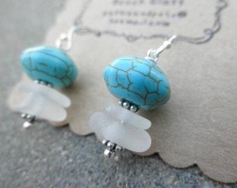 Summer Turquoise Earrings Lake Erie Ohio
