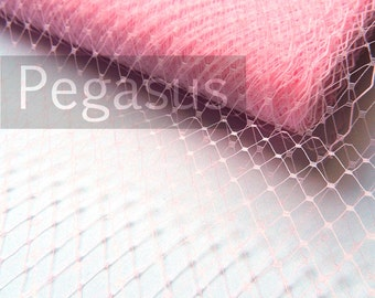 Blush PINK French Netting (sold by the yard) Birdcage Veil Material for DIY wedding blusher veiling, hair accessories and costuming