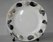 Seashell Beach Decor China Plate with plate stand included
