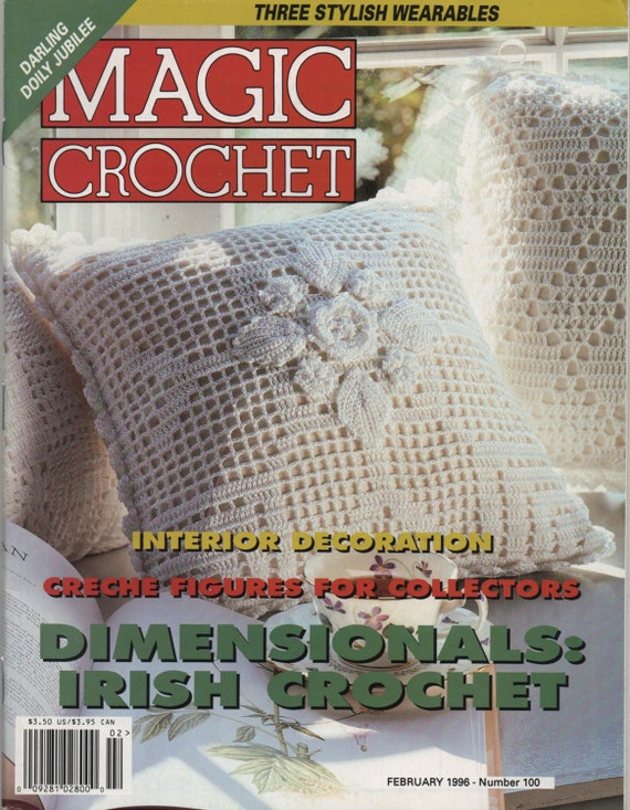 Magic Crochet Magazine February 1996 Back Issue Crochet Patterns