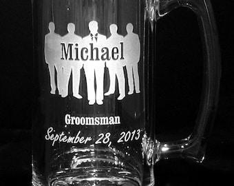 Personalized Glass Mug #2. Weddings, Birthdays, Gifts, etc.