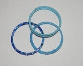 Crystal Blue Waves Cuff Set