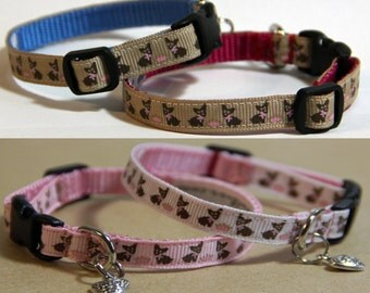 Chihuahua / Teacup Dog Collars - choice of colours & collar charm