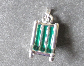 Set of Three Green Sterling Silver Beach Chair Charms