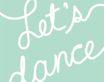 Carococo art print by  CarolAnne Pedneault / Let's Dance / 8x10