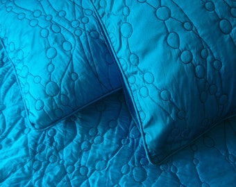 Blue Bedding set/Rustic Home Decor/Art Quilt/Modern Quilts/Bedspread designer/Twin Bedspreads/Bedspread Shop/Luxury bedding Collection