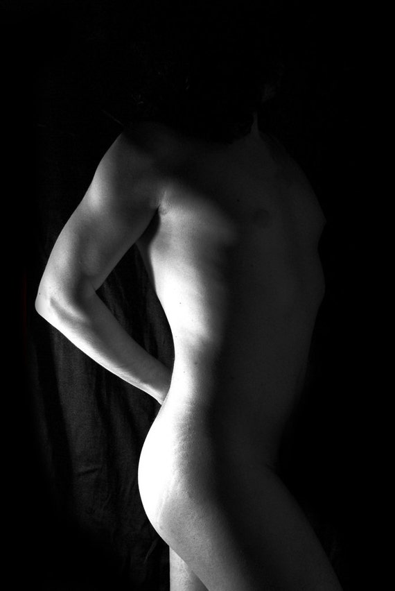 Naked Art Male Artstic Nude Black And White Photography Fine-2407