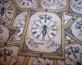 Queen Bee Steampunk Stickers Set of 12 - mreguera