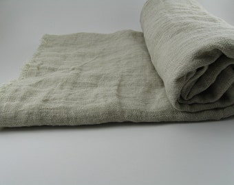 Handmade Linen Beach Towel / Sauna Towel / Sarong Wrap / Tablecloth / Throw --- Oatmeal