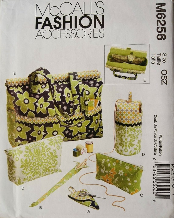 Knitting Tote Organizer Mccall S 6256 Uncut Sewing By Blue510