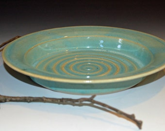 Pottery Handmade, Ceramics and Pottery Bowl, Ceramic Bowl, Celadon Green Glaze, Serving Bowl, Fruit Bowl