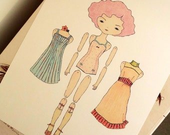 Paper Doll - Lilac - Instant Download