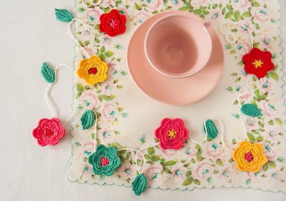 Crochet Flower Garland - Country Kitchen - Textile Arts