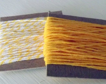 Yellow White String Solid Divine Twine Lemon Divine Twine 10 Yards Each 20 Yards Total