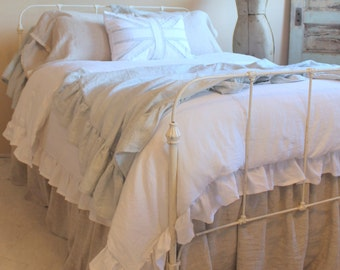 The French Prairie Collection Duvet Cover Queen Shabby Chic Ruffles