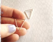 SMALL TRIANGLE HOOPS - sterling silver - gold - rose gold -  modern hoop - small everyday earrings